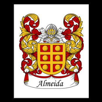 el escudo de la familia Almeida tiene una doble cruz de oro