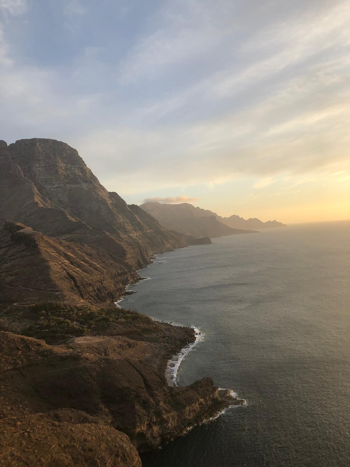 la costa norte de Gran Canaria desde Agaete